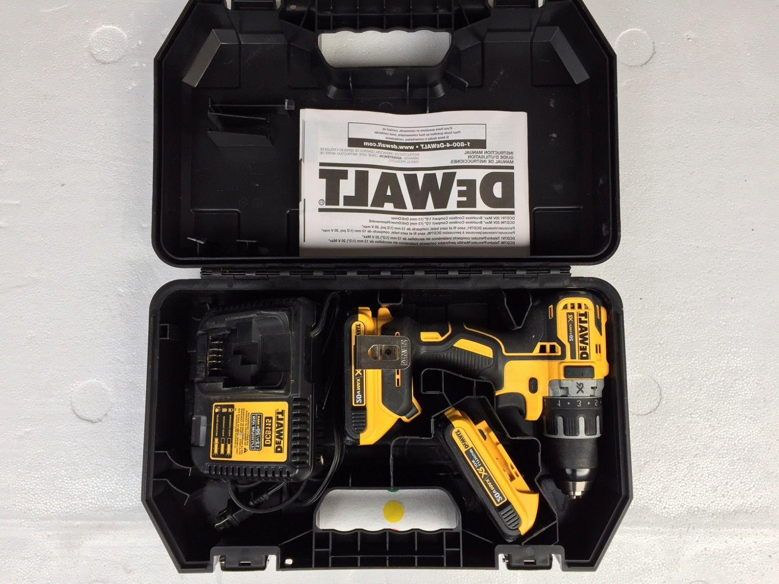 Dewalt DCD791D2 20V MAX Li-Ion 1/2 in. Brushless Drill Drive