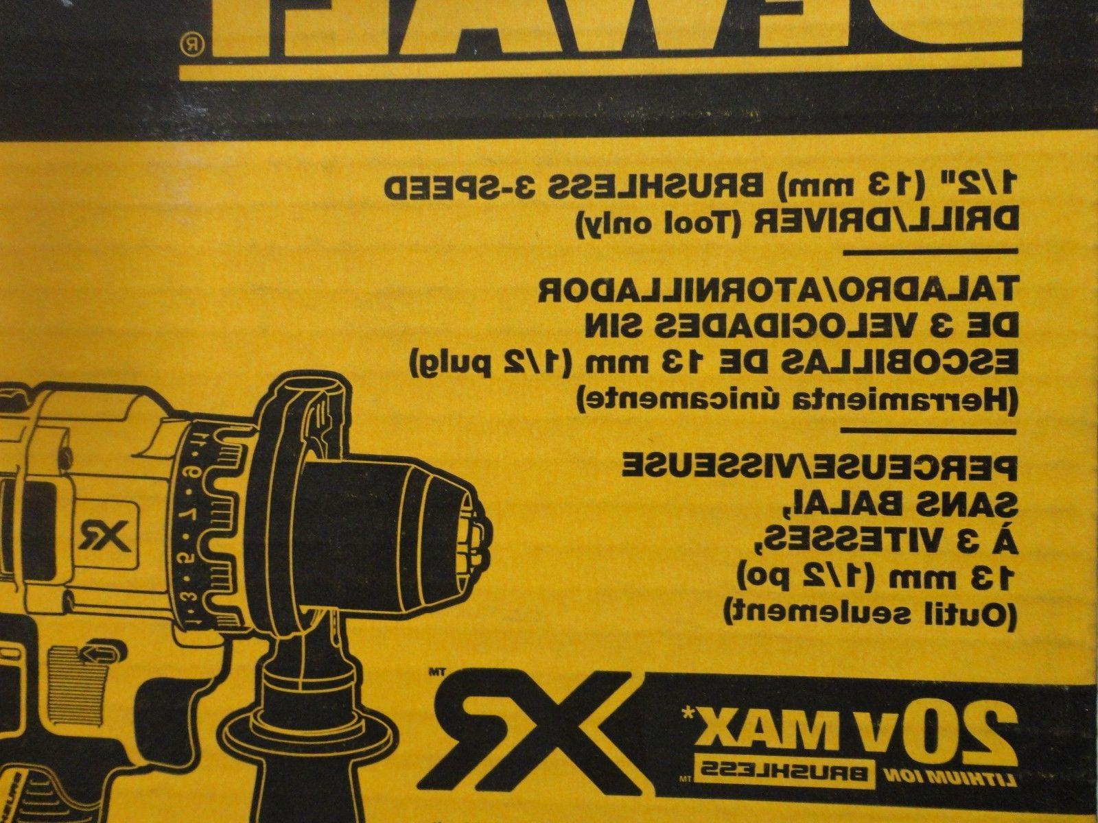 "DEWALT 20V Volt Brushless 1/2"" Driver DCD991"