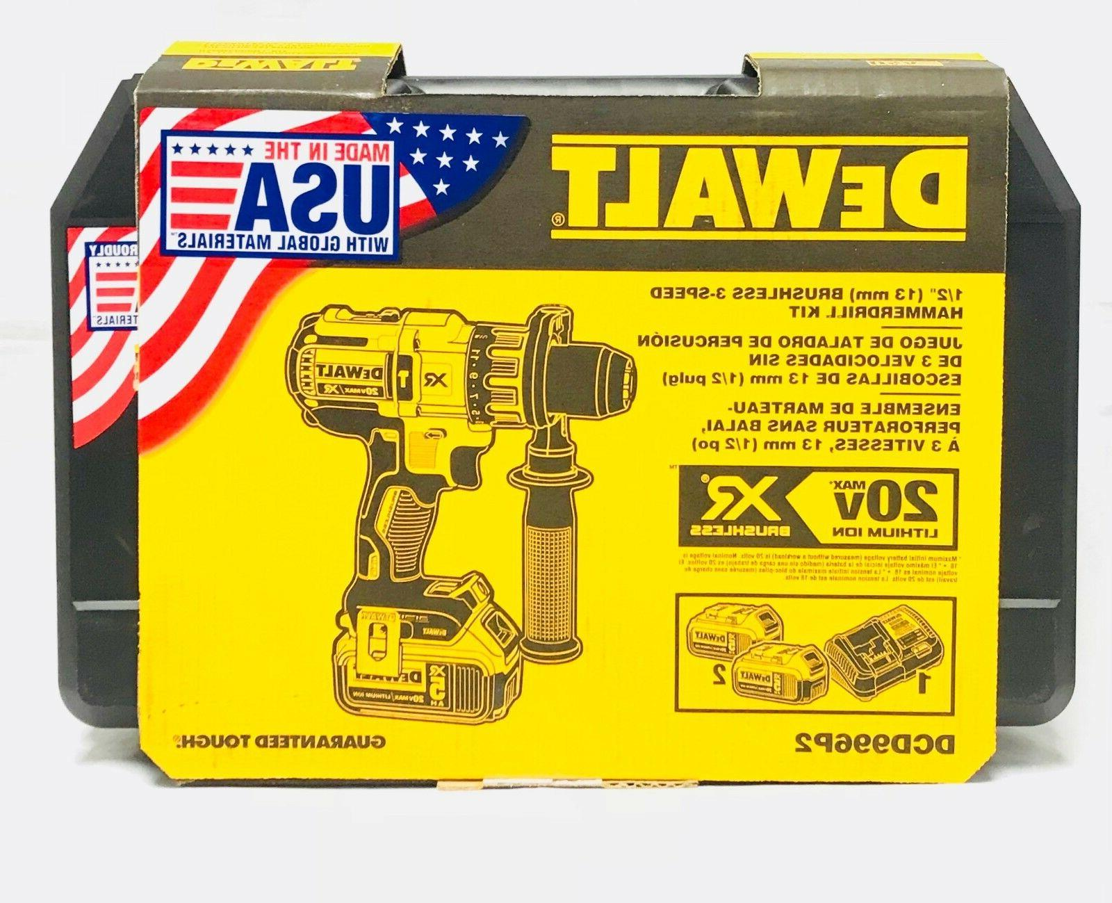 DeWalt XR Brushless Hammer Drill Kit
