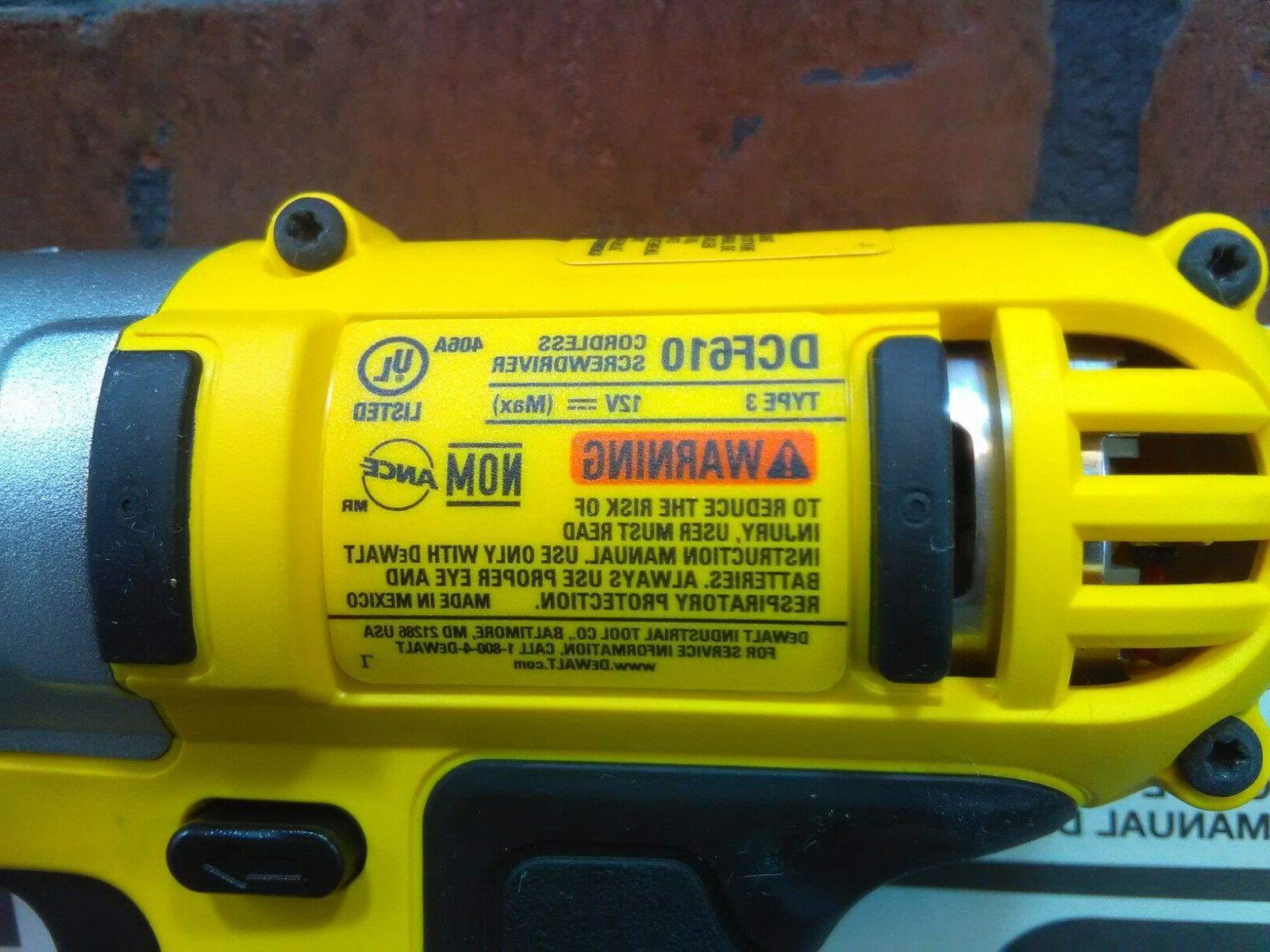 "Dewalt DCF610B 1/4"" MAX Lithium Ion Screwdriver Bare-***NEW***"