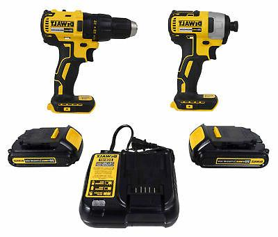 dck277c2 20v max compact brushless drill impact