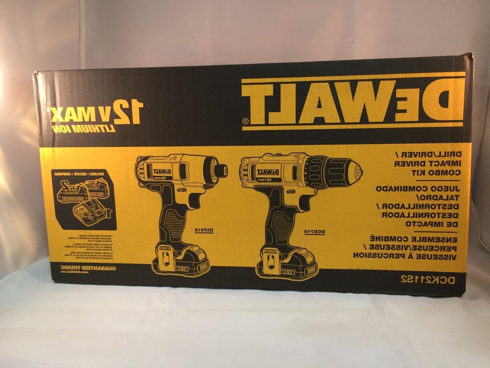 NEW DeWalt 12V Drill/Driver DCD710 Impact Driver DCF815 Combo Kit DCK211S2