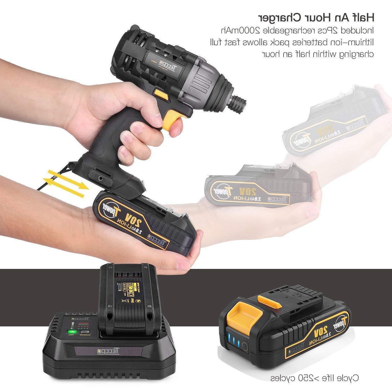Drill Driver/Impact TECCPO 20v Drill Co