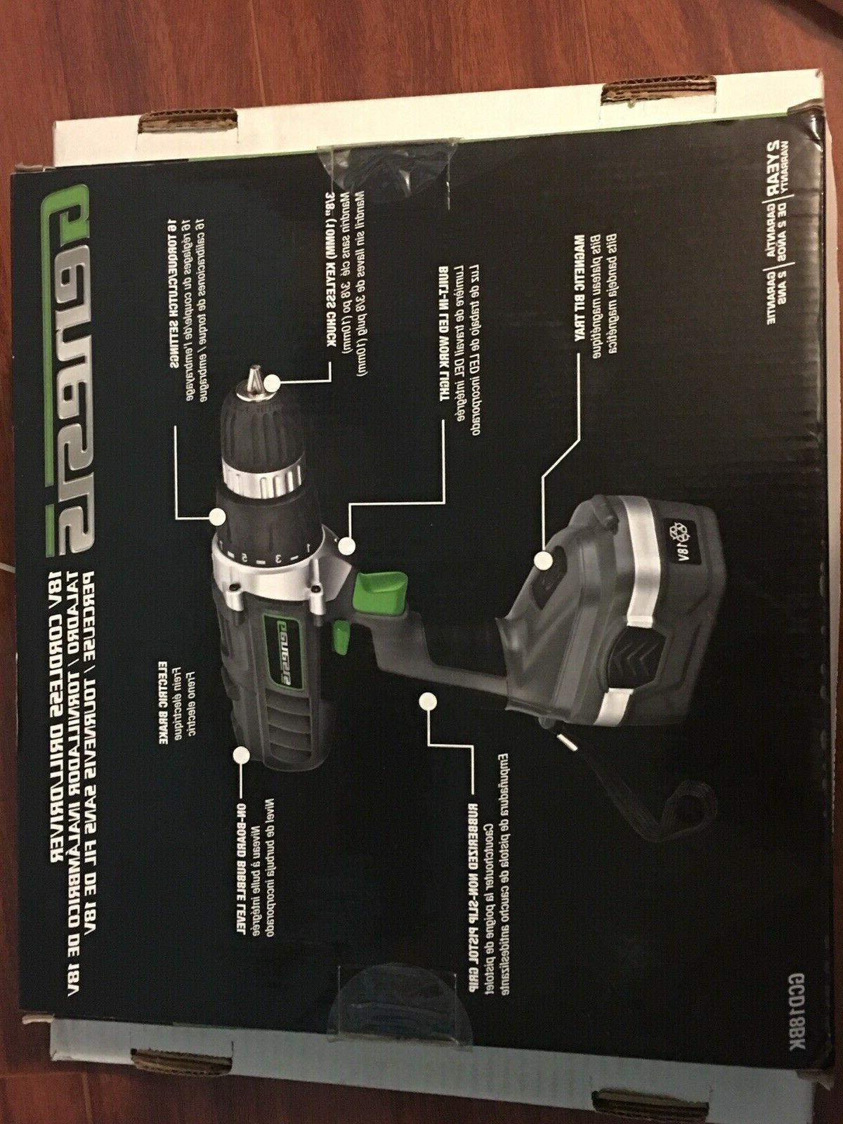 Drill Driver 18V Portable Power Hand Tool