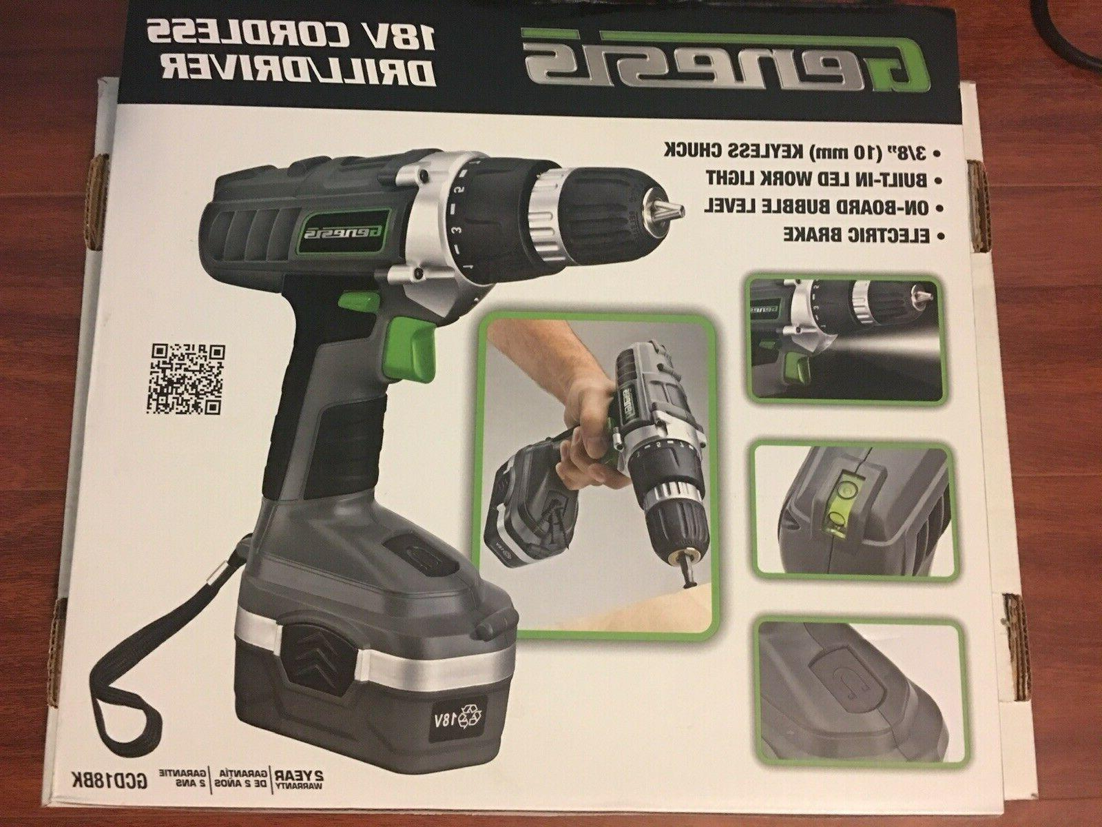 drill driver kit 18v cordless electric rechargeable