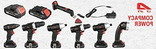 Eisen EI009 Impact Drill Position Clutch LED Lithium-ion and 40 Bit Set Compact
