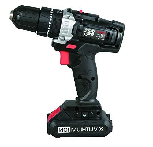 Eisen Cordless Impact Position Keyless LED Lithium-ion Battery and & 40 Piece Screwdriver Bit Accessory in Compact C