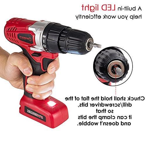 Drill ScrewDriver 1300mA Lithium-Ion Switch, Lightweight, Light, 13 Pcs Set, Magnet Wristband