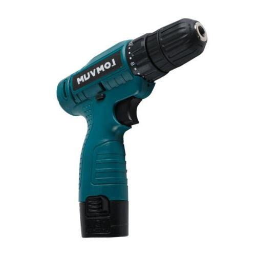 Electric Cordless Battery Drill Rechargeable w/Bits Set