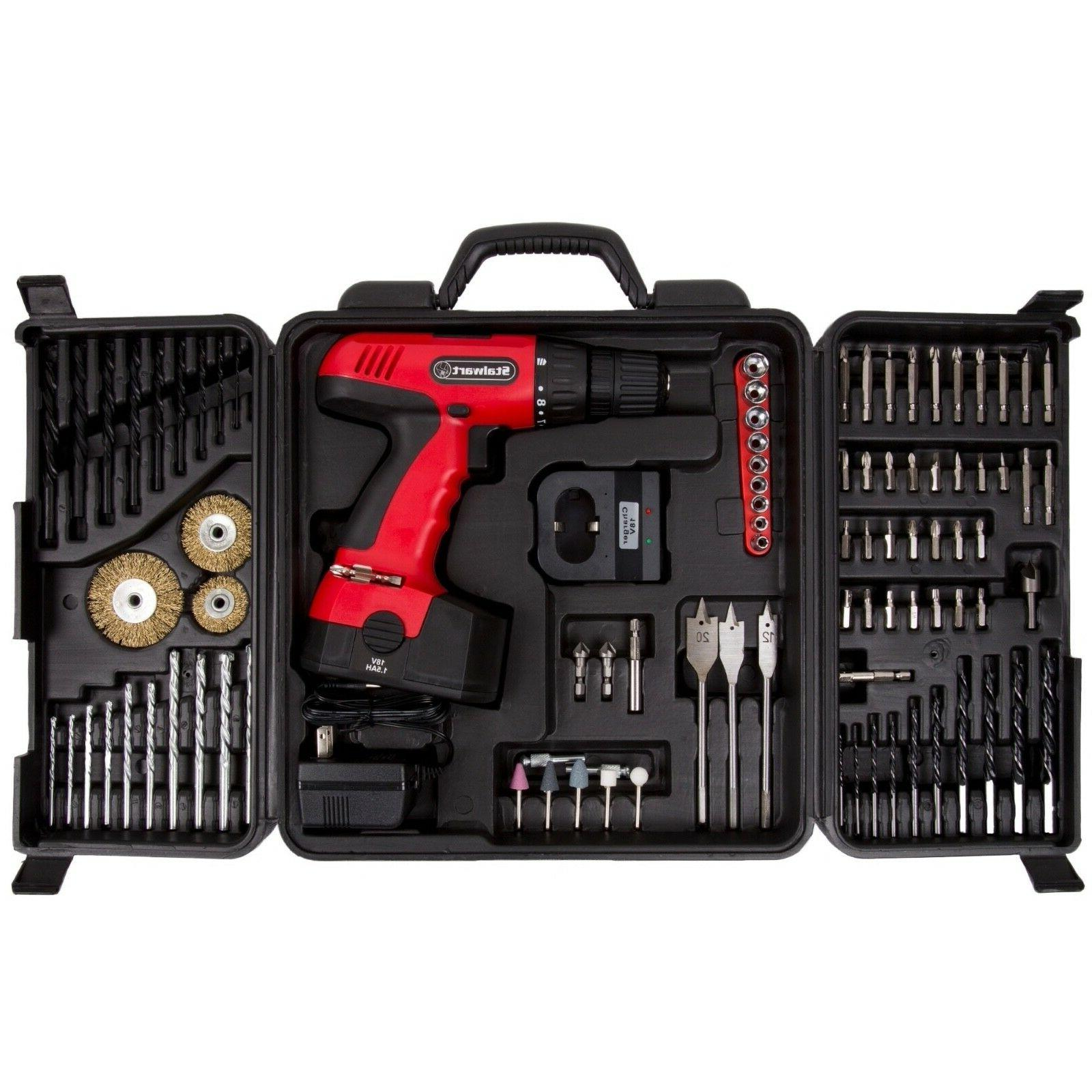 electric drill cordless 89 piece set 18v