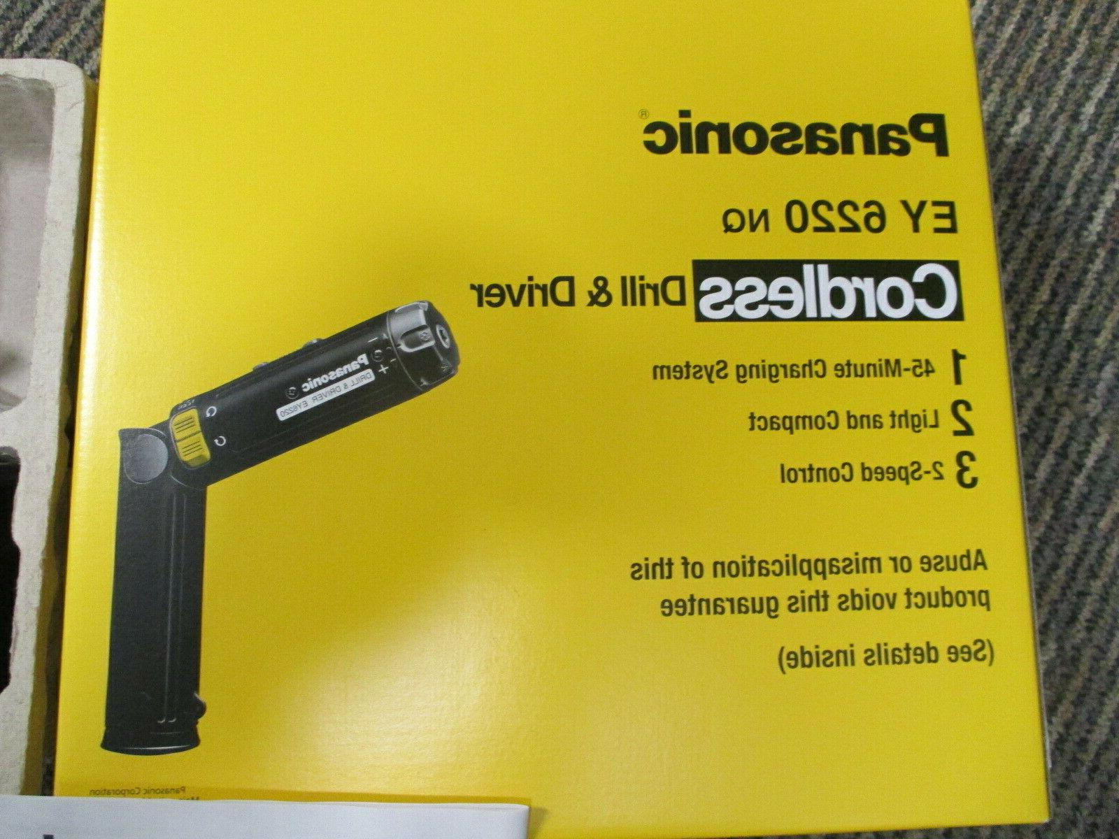 PANASONIC Drill/Driver 1.2A/hr NEW