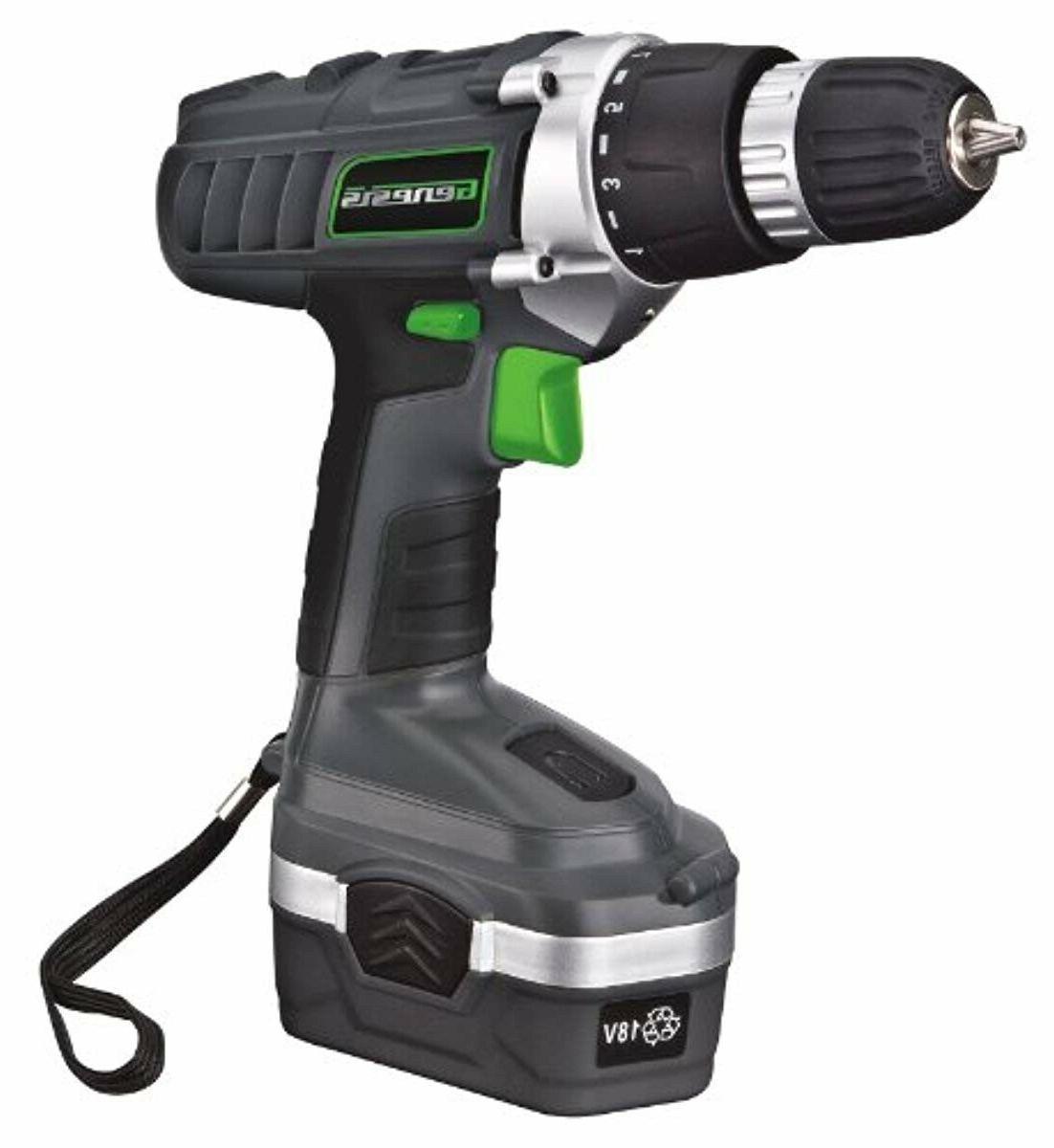 gcd18bk 18 volt cordless variable speed drill