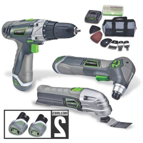 Genesis GL12DHOK2 Lithium-Ion Combo Tool, and