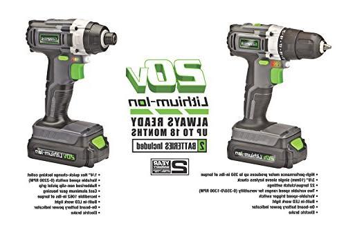 Genesis 20-Volt Drill/Impact Driver
