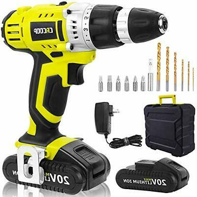 green cordless 20v lithium ion drill drill
