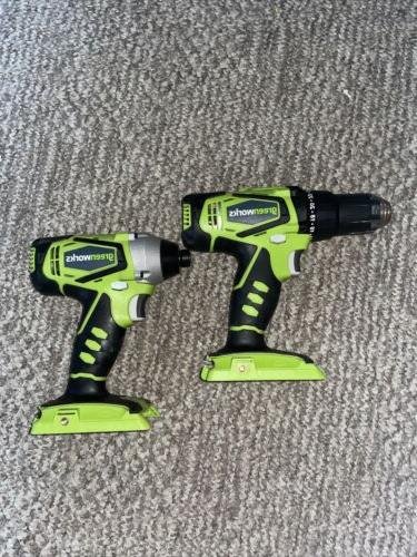 green works impact driver and drill 24v