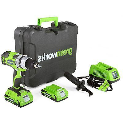 Greenworks 32032 Lithium-Ion DigiPro Compact Drill