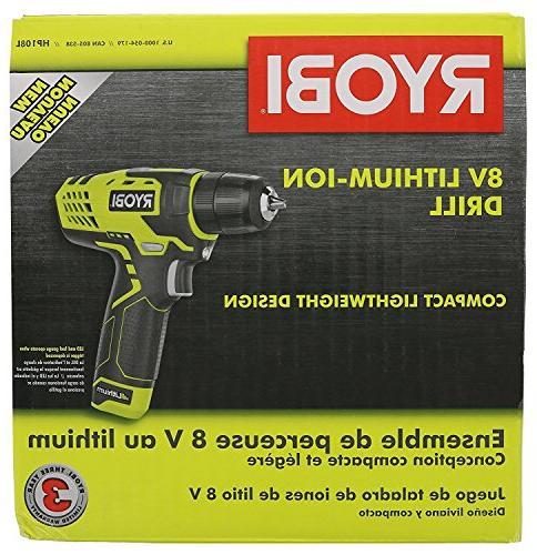 """Ryobi HP108L Volt 3/8"""" Drill /"""