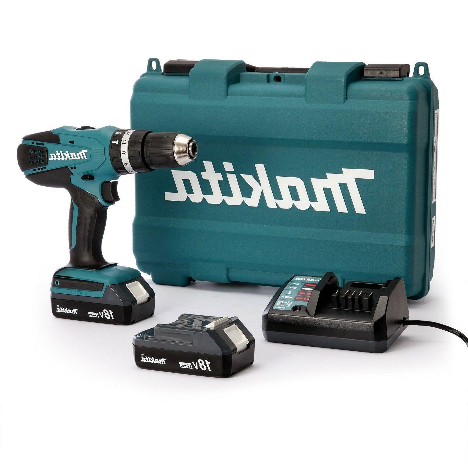 impact cordless drill hp457dwe 18v voltage 1