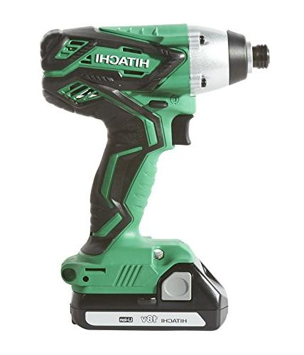 HITACHI KC18DGL 18-VOLT DRILL/DRIVER KIT WITH DRIVER DRILL and IMPACT DRIVER