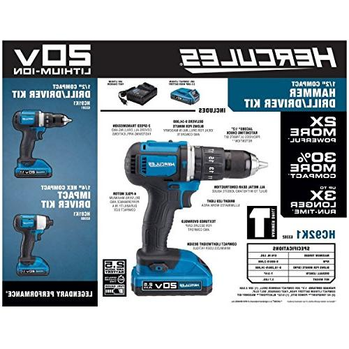 Hercules 1/2 In. Compact Drill/Driver Kit