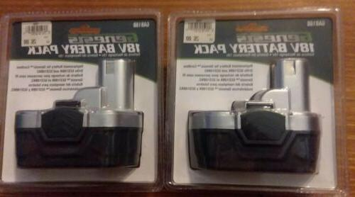 lot of 2 gab18b 18v replacement battery