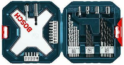 Bosch 34-Piece Drill and Drive Bit Set For Wood, Metal, Maso