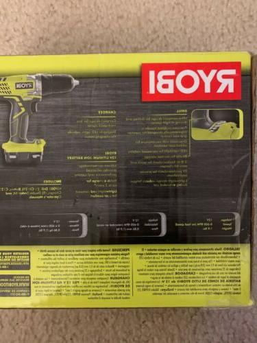 New Volt Cordless Lithium Compact Drill Driver Tool Kit