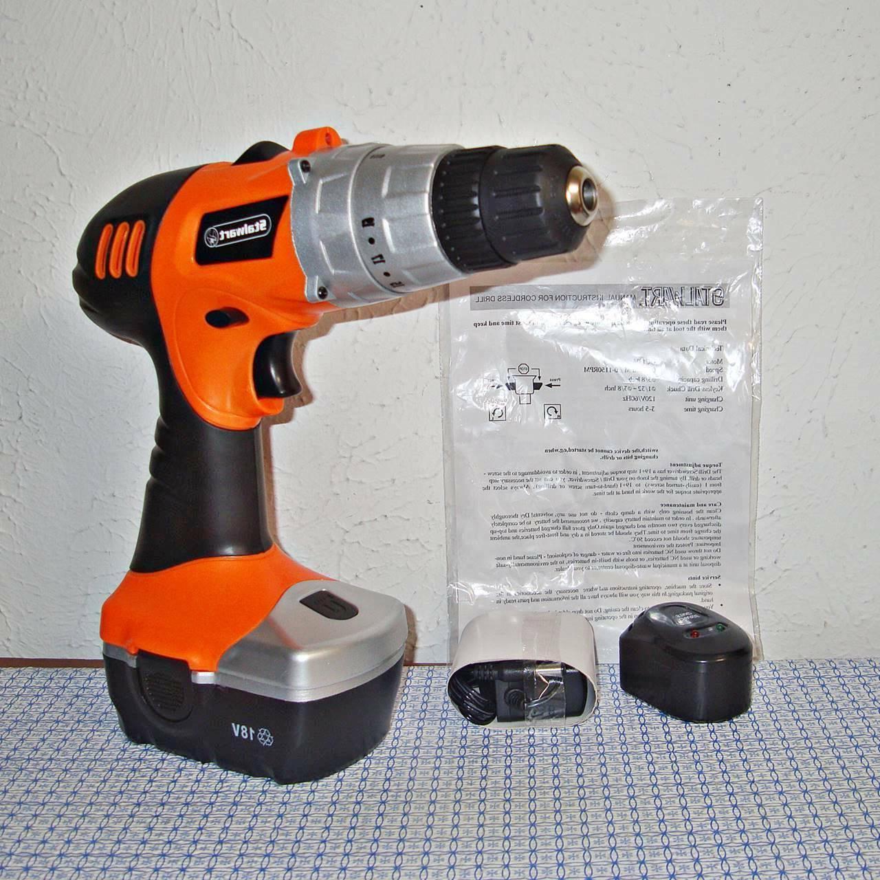 New Stalwart Drill Battery, Built In LED ..