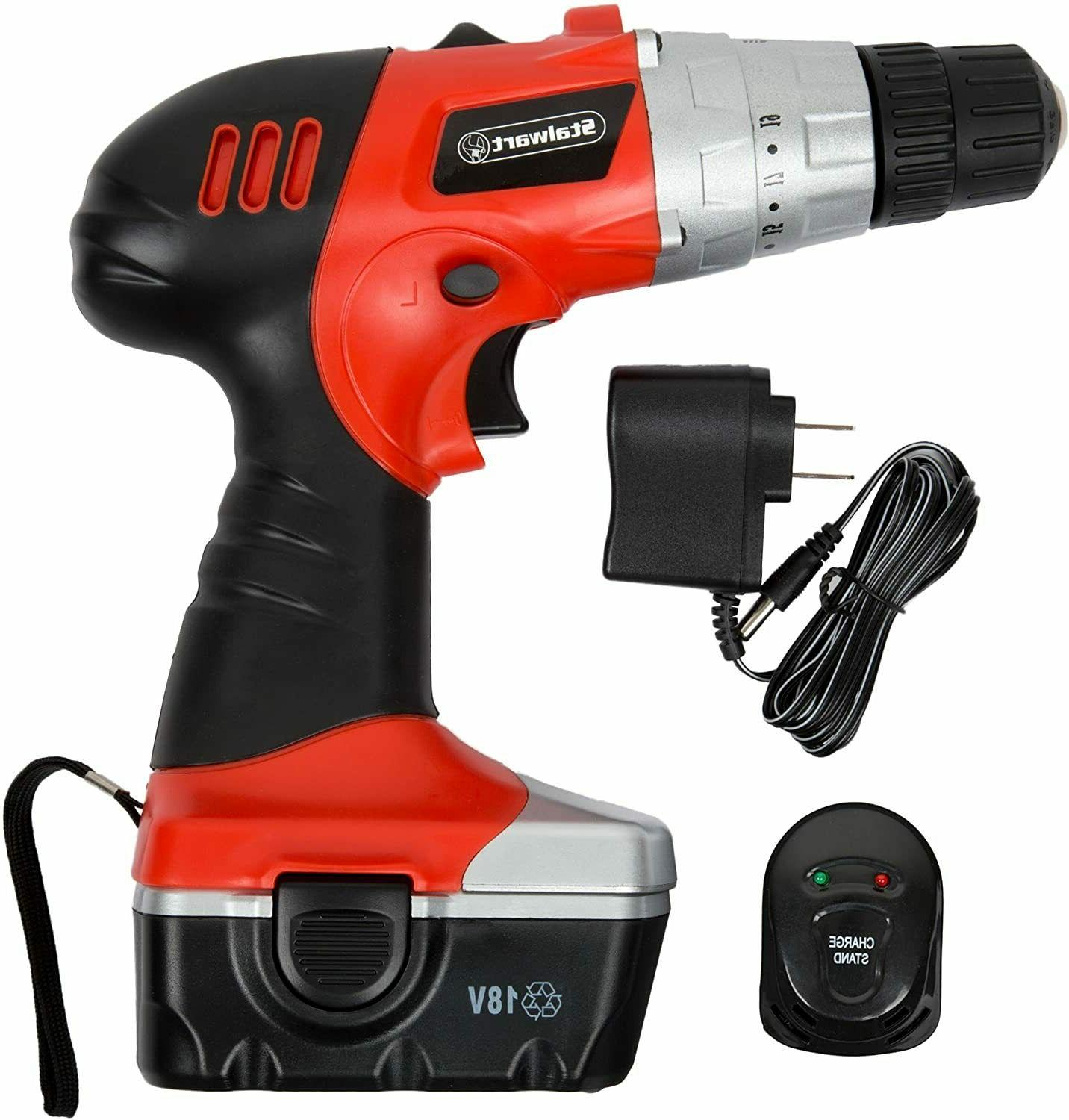 new 18v cordless drill with rechargeable battery