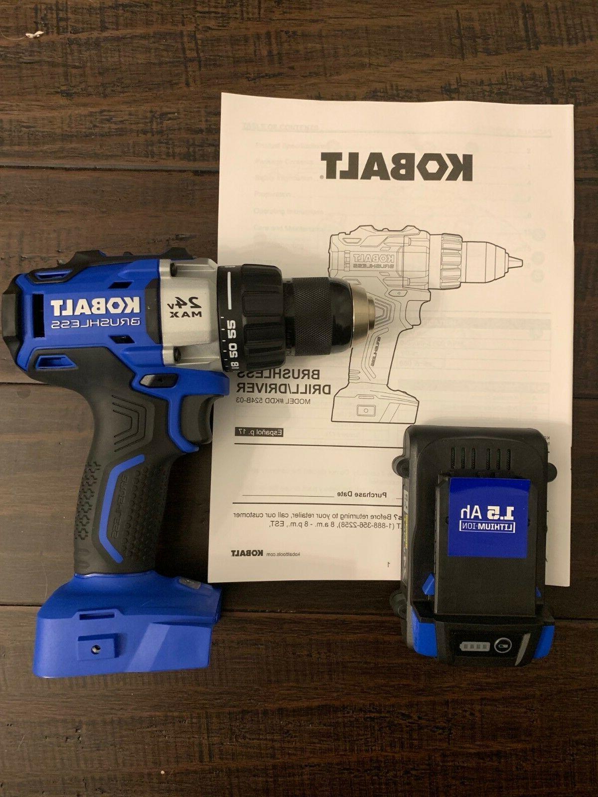 new 24v volt max brushless cordless drill