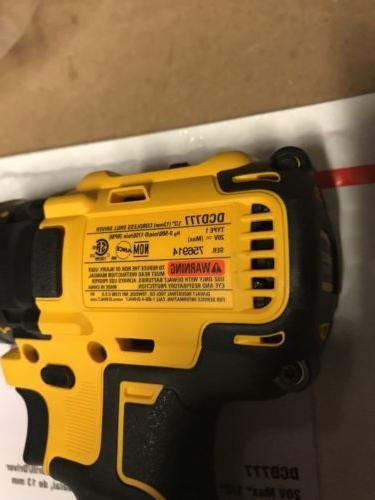 New Dewalt DCD777B 20V Cordless Drill Driver