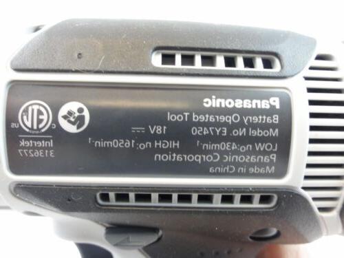 """Panasonic Genuine 18V Lithium-Ion 1/2"""" Driver Model EY7450"""