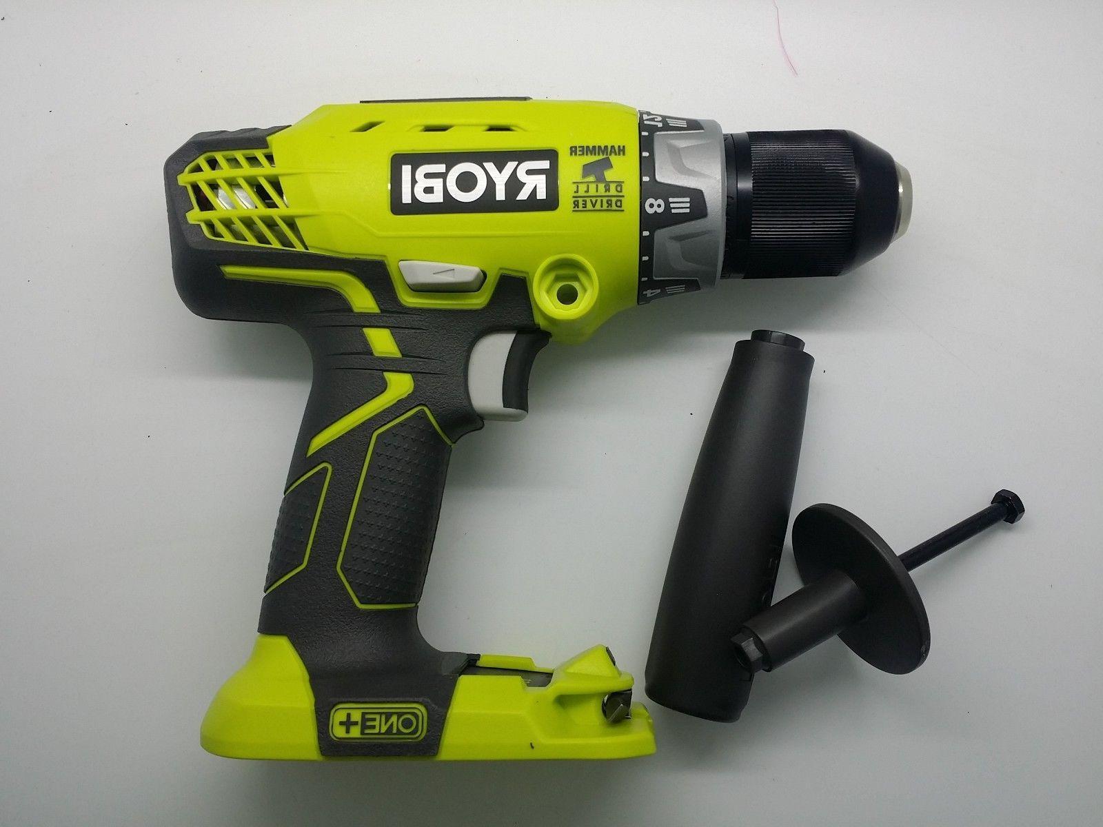 New Ryobi P214 ONE+ 18-Volt LI-ION 1/2 in. Cordless Hammer D