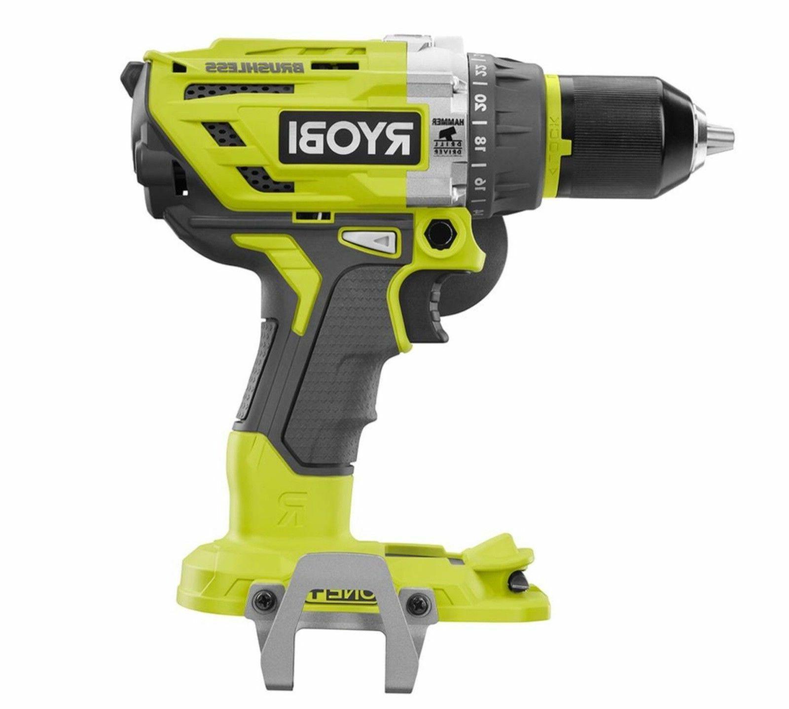 "New Ryobi P251 One + 18V 1/2"" 2 Speed Hammer Drill Driver"