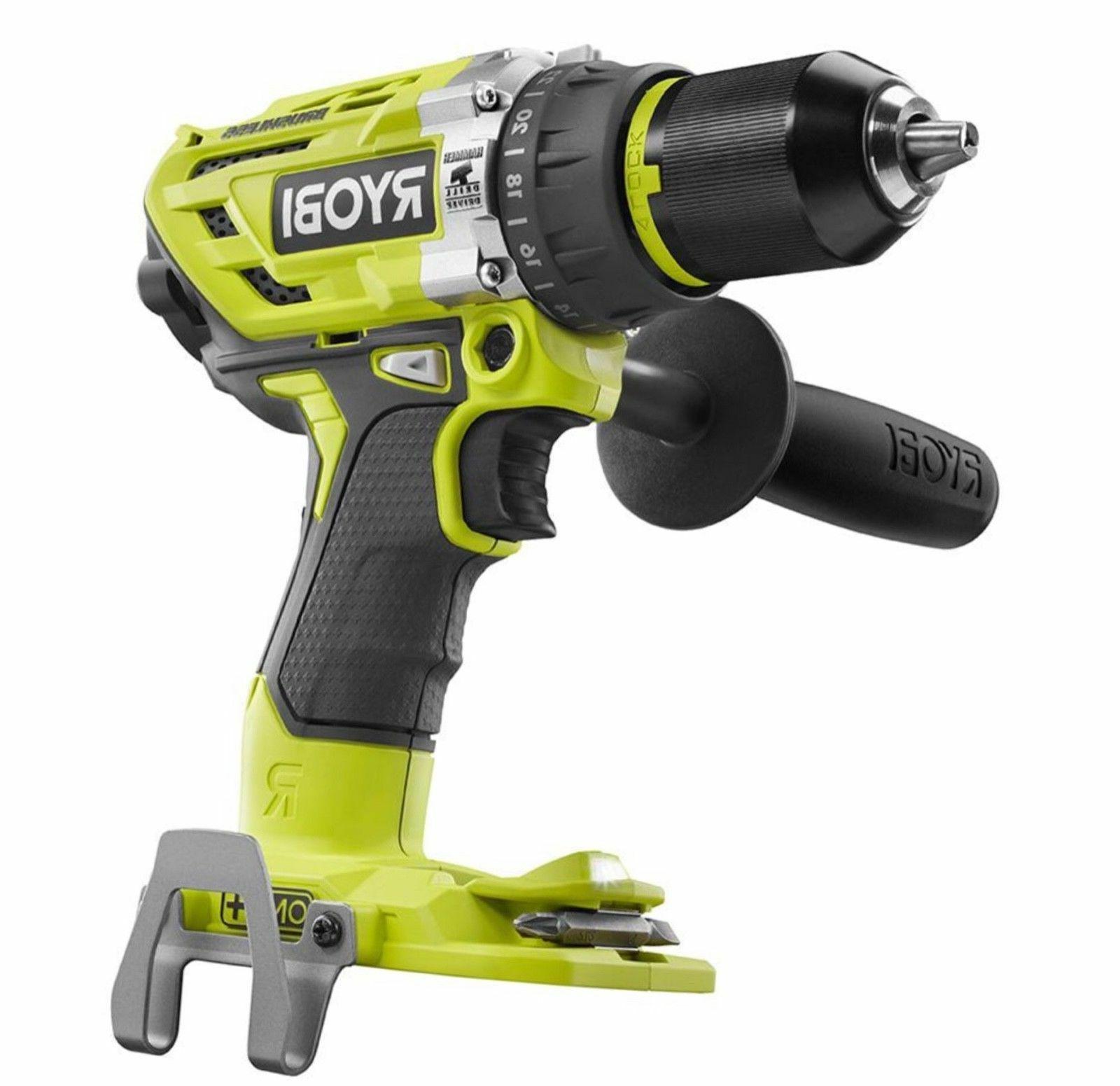 "New Ryobi P251 + 18V 18 Volt 1/2"" Brushless Hammer"