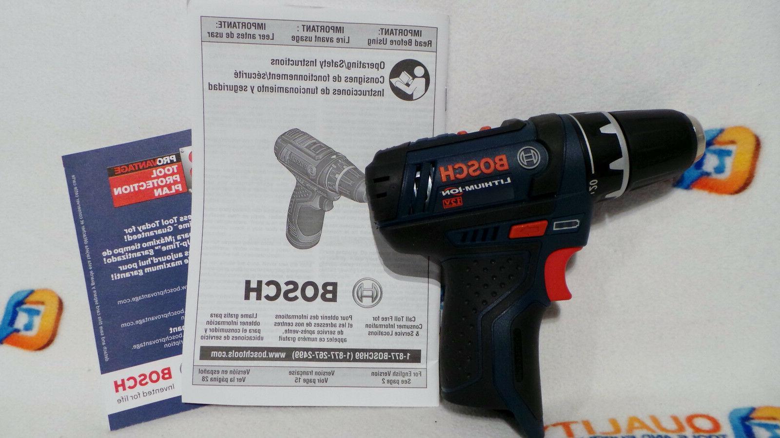 "New Bosch PS31 12V Max Li-Ion Cordless 3/8"" Drill/Driver 2-S"