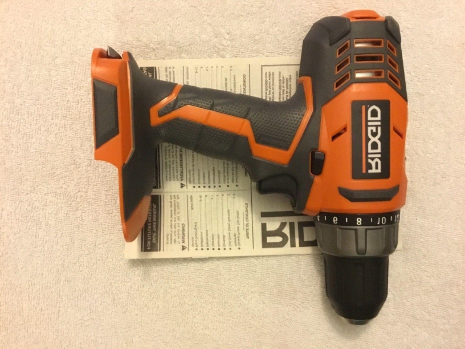 "New Ridgid R860052 18V 18 Volt 1/2"" Cordless Drill Driver"