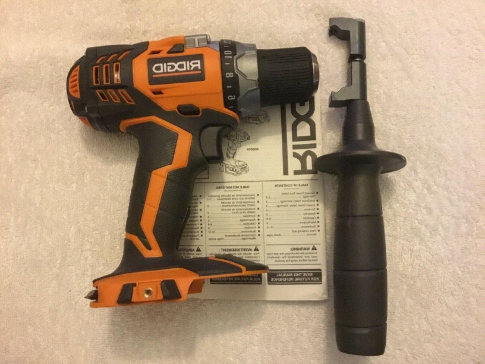New Ridgid 18 Volt X4 Cordless Drill Driver Lithium