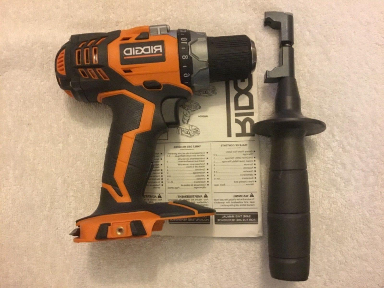"New Ridgid R86008 18 Volt 18 Volt 1/2"" X4 Cordless Drill D"