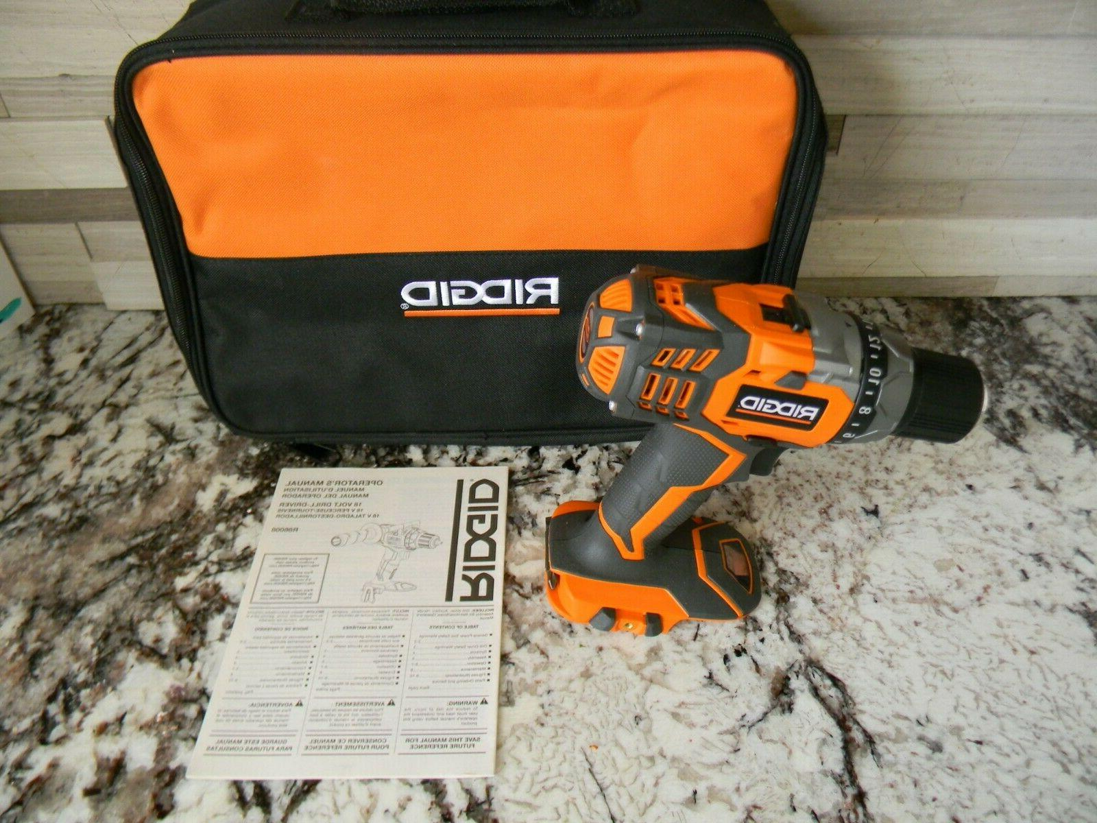 new r86008 cordless 18volt drill driver w