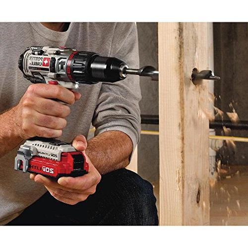 Porter-Cable PCC620LB 20V Cordless Lithium-Ion Hammer Drill Kit
