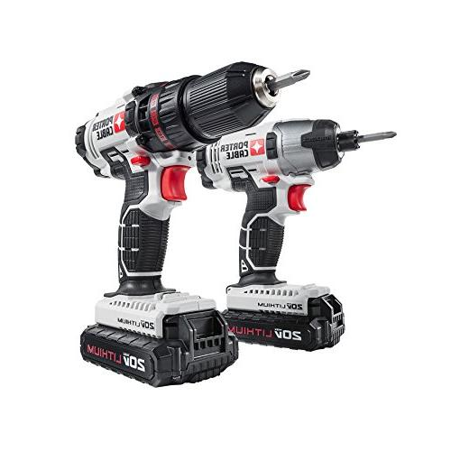 PORTER CABLE PCCK604L2 MAX 2-Tool Cordless and Kit