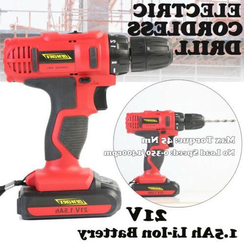 portable cordless drill 1 5ah li ion