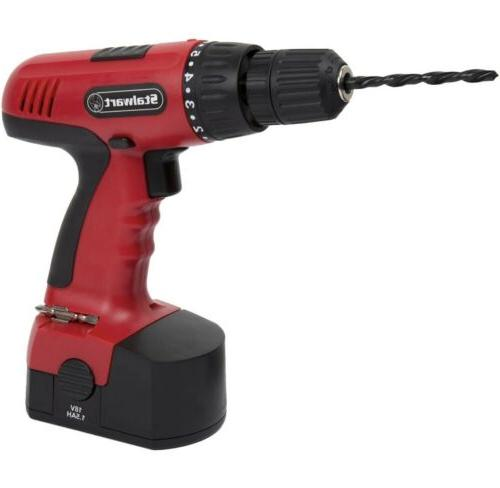 Power Drill Volt Drill With & Bits Tools