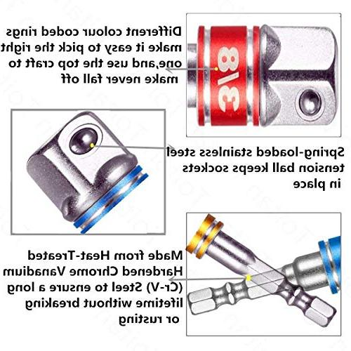 """Power Hand 1/2"""" Square Driver Power Extension Impact Adapter, Socket Set Ratchet Extension"""