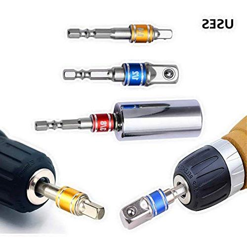 """Power Tools Adapter 1/4"""" 1/2"""" Square Nut Set Power Extension Impact Sockets Bit Adapter, Ratchet"""
