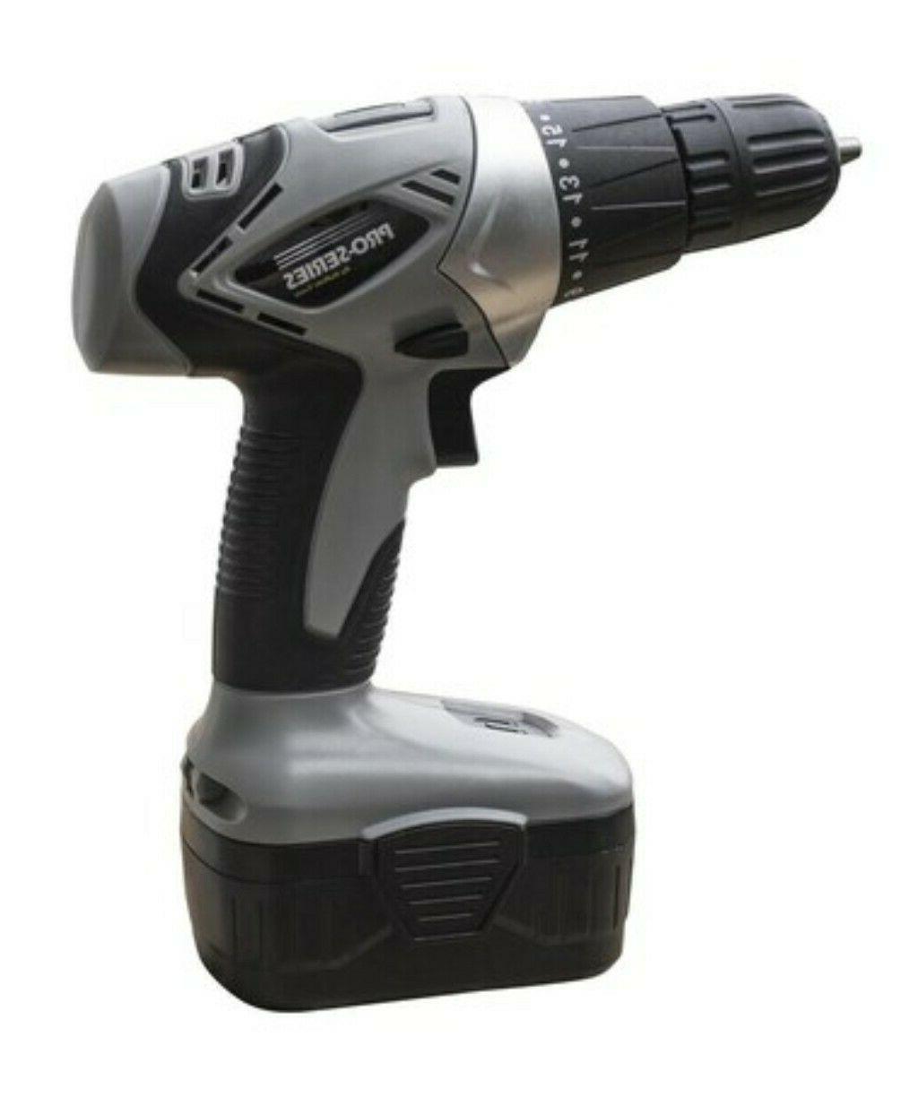 pro series 18 volt cordless drill w