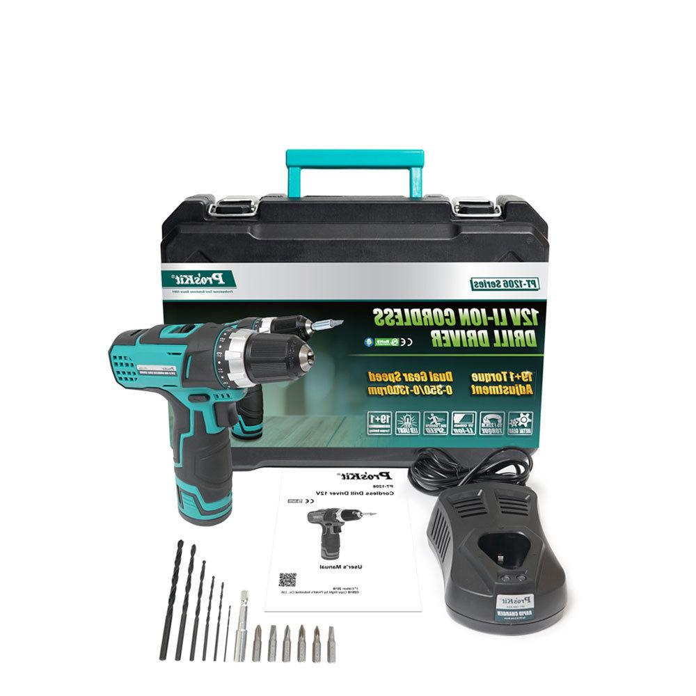 Drill Driver 12V 1.3Ah Rechargeable