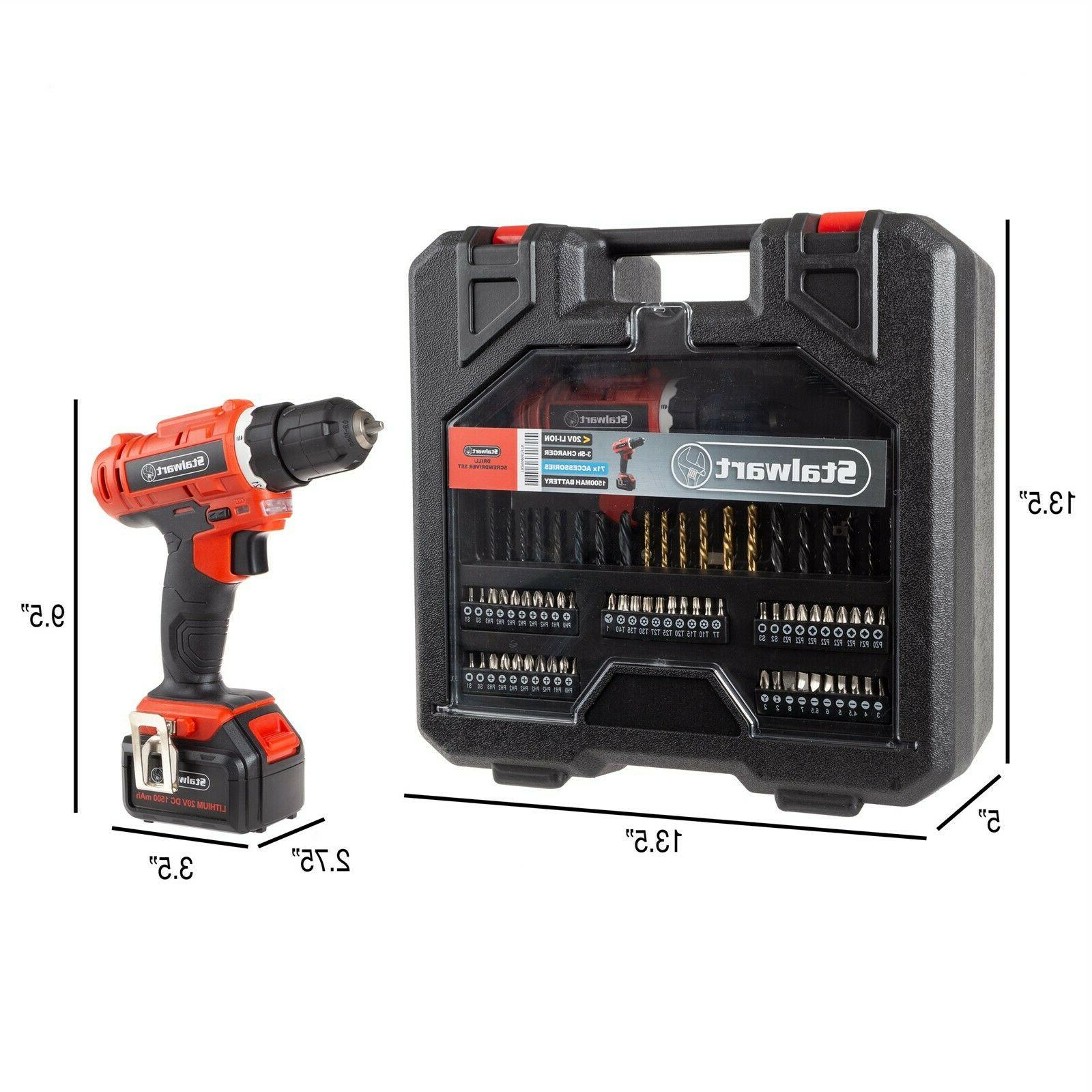 Professional 20V Drill Kit Assorted 70 Pc Case